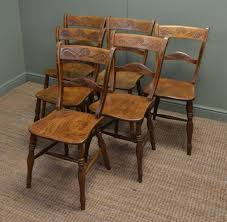 Kitchen Furniture Calgary Set Of Six Elm Antique Country Kitchen Chairs
