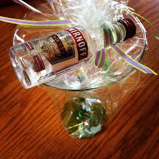 party favors for adults martini glass and mini vodka bottle party favors via