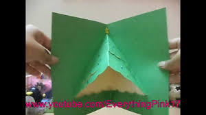 christmas tree pop up card tutorial youtube