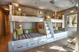 bunk beds twin over full bed stairs loft on kids architectural