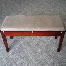 custom suede piano bench cushions