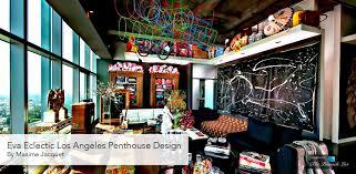 Penthouse Design Eva Eclectic Los Angeles Penthouse Design By Maxime Jacquet The