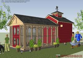 shed plans colonial style cb211 combo chicken coop garden shed