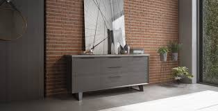 modern buffet table urbano gray concrete on gray oak modern buffet contemporary buffet