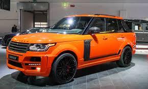 matte orange range rover hottest concepts and customs in frankfurt autonxt
