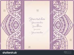 Invitation Card Border Abstract Background Lace Frame Border Pattern Stock Vector