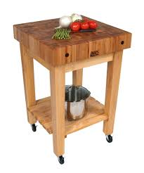 admirable butcher block cart with hard wood frame and square table