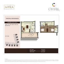2 Bedroom Duplex Floor Plans by Crystal Residence 3 Bedroom Duplex Type 01 Floor Plan