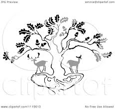 White Oak Tree Drawing Oak Tree Drawing Black And White