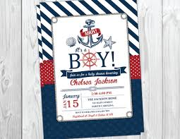 Nautical Appearance Nautical Baby Shower Invitation Wblqual Com