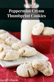peppermint cream thumbprint cookie beyond frosting