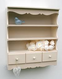 Kitchen Wall Units Small Pretty Wall Display Unit In Ivory Amazon Co Uk Kitchen U0026 Home