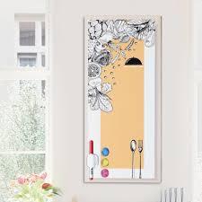 tableau blanc cuisine tableau noir magnétique mural avec aimants