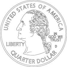 coloring pages quarter us coin coloring pages murderthestout