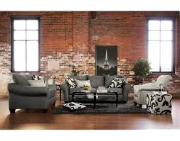 furniture great price value city furniture living room sets with interesting red bricks wall feat french eiffel tower photo frame with dark gray sofa value city