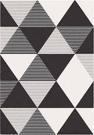 tappeti moderni bianchi e neri tappeto geometrico a triangoli blend bianco e nero 120x170
