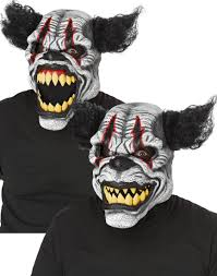 halloween mask clown ani motion scary last laugh the clown mask costume craze