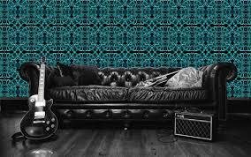 rock star artist sean yseult unveils new line of wallpaper designs