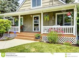 house with cozy entrance porch stock photo image 45023997