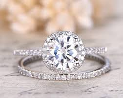 engagement and wedding ring set bridal sets etsy