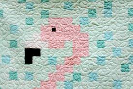 flamingo pixel quilt free pattern create a sized flamingo