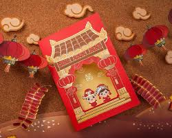 Asian Wedding Invitation Chic Cartoon Asian Theme Bride U0026 Groom Wedding Invitation Card
