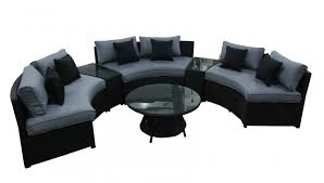 Rattan Curved Sofa Furniture Delightful Curved Sofa For Your Living Room Furniture