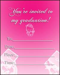 hello graduation pink hello invitations free printable invitations
