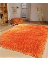 Modern Orange Rugs Shag Flokati Modern Orange Area Rugs Bhg Shop