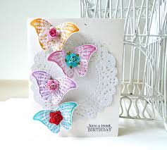 butterfly colorful happy birthday handmade card luulla