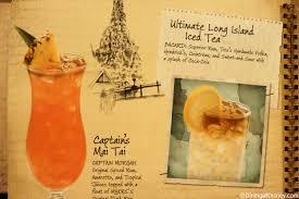 cocktail drinks menu disney drink menu cocktails
