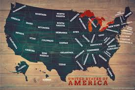 map of us states poster us map posters map of the united states poster