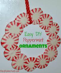 easy diy peppermint ornaments groceryshopforfree