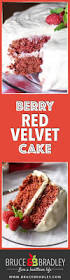 berry red velvet cake with no artificial colors