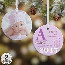 Christmas Ornaments Baby Personalized Baby Photo Christmas Ornaments Baby Birth Double