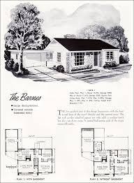 Mid Century Modern Tiny House 1952 Barnes Plan National Plan Service Mid Century Modern