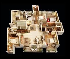 4 Bedroom Floor Plans For A House 98 Best 3d Floor Plans Images On Pinterest Architecture Bedroom
