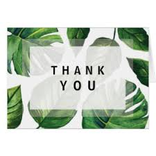 tropical thank you cards invitations greeting photo cards