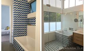 White And Blue Tiles In Bathroom Granada Tile Collections Cement And Concrete Tile Gallery