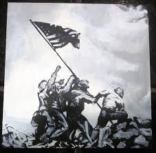 Flag Iwo Jima Raising The Flag On Iwo Jima By Blackwolf13 On Deviantart