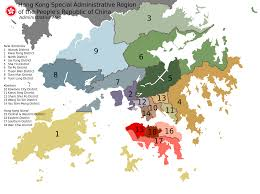 Usps First Class Shipping Time Map Districts Of Hong Kong Wikipedia