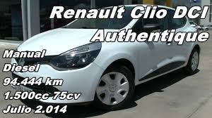 renault clio dci authentique manual diesel 94 444km 75cv en