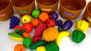 best learning video for kids healthy foods learn colors sorting