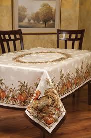 plastic thanksgiving tablecloths amazon com benson mills turkey festivities engineered border