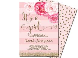 girl baby shower invitations it s a girl baby shower invitation blush pink gold