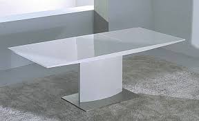modern extendable white lacquer dining table cr2014 modern dining
