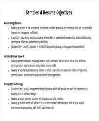 Accounting Resume Objective Samples by Career Objectives Free Doc Pgdm Finance Accountant Resume