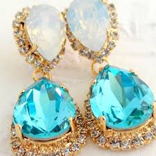 turquoise bridal earrings shop opal chandelier earrings on wanelo