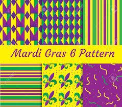 mardi gras paper mardi gras seamless pattern set collection of digital paper
