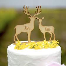 deer cake topper online shop wedding cake topper deer antlers mr mrs cake topper